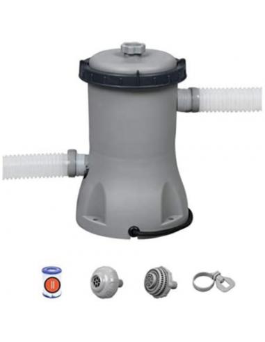 Pompa filtro a cartuccia 2006l/h per piscina fuori terra Bestway Piscine e accessori