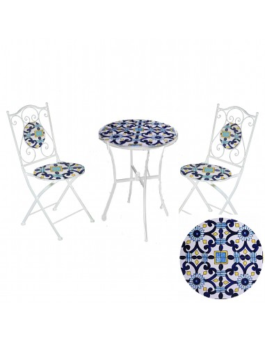 Tavolo mosaico Sorrento Tondo Tavoli