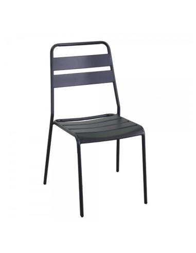 Sedia metallo Rovigo antracite Poltrone panche e sedie