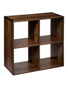 Scaffale in legno 4 scatole...