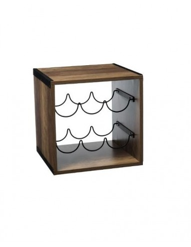 Portabottiglie in legno 31x 31 Mobili multiuso