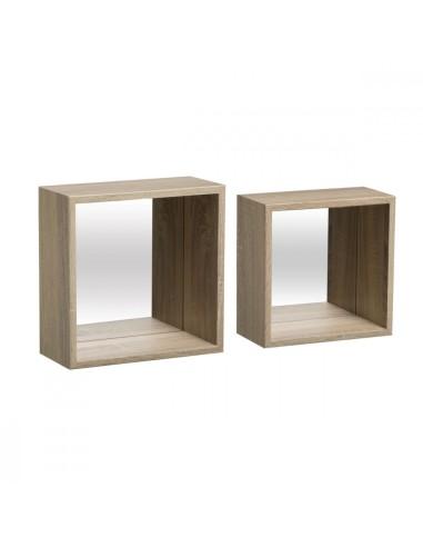 Mensola fixy specchio cub naturale Mobili multiuso