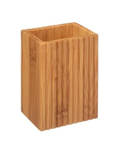 Porta spazzolini in bambu Porta Spazzolini