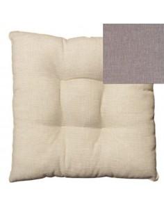 Coprisedia bordato fibra beige