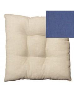 Coprisedia bordato fibra blu
