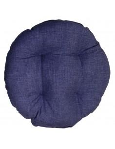 Coprisedia bordato tondo blu