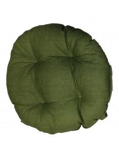 Coprisedia bordato tondo verde
