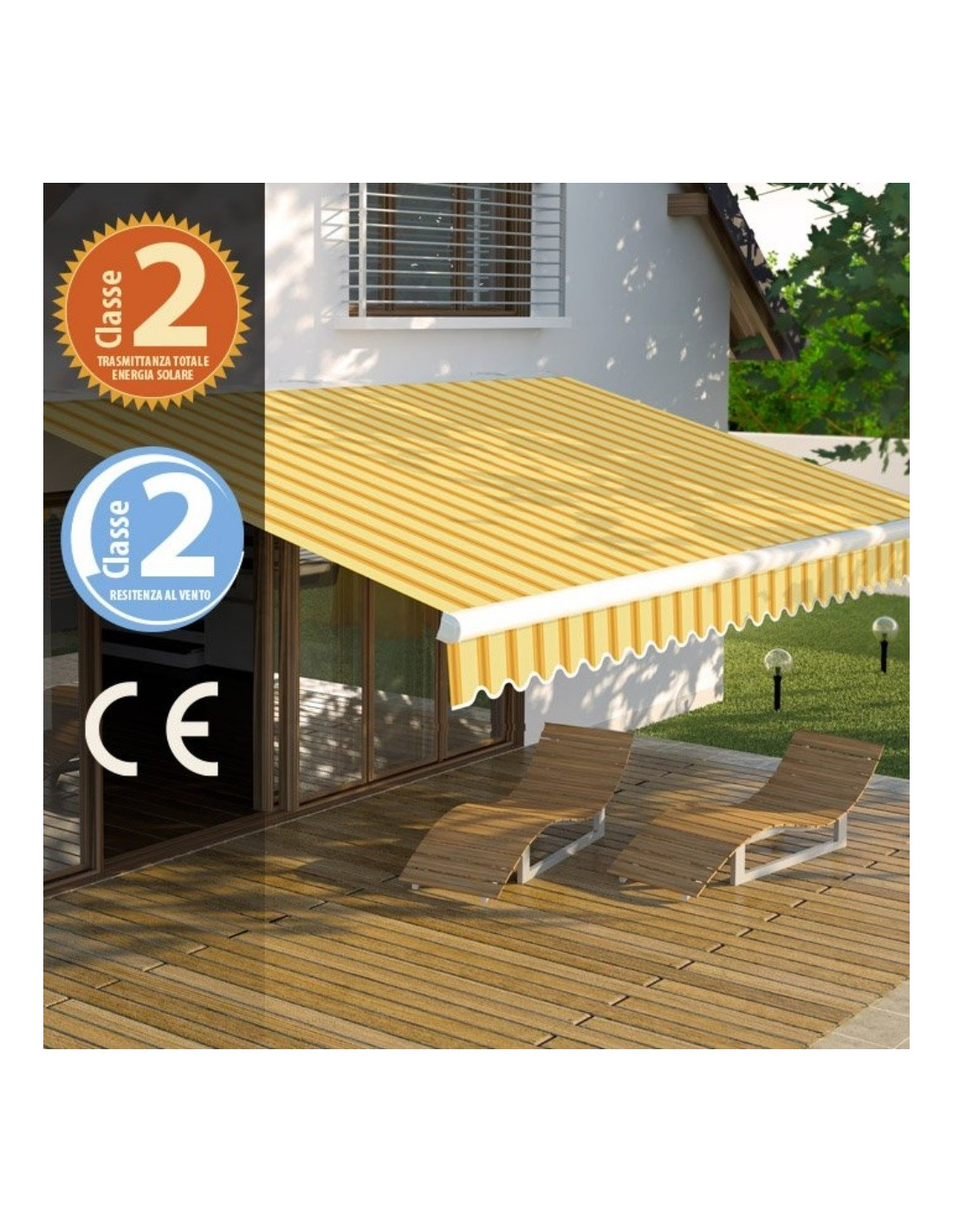 Tende Da Sole Frattamaggiore tenda da sole fissa itaca 3 x 2 metri colore beige e ocra verdelook a soli  159,00 €
