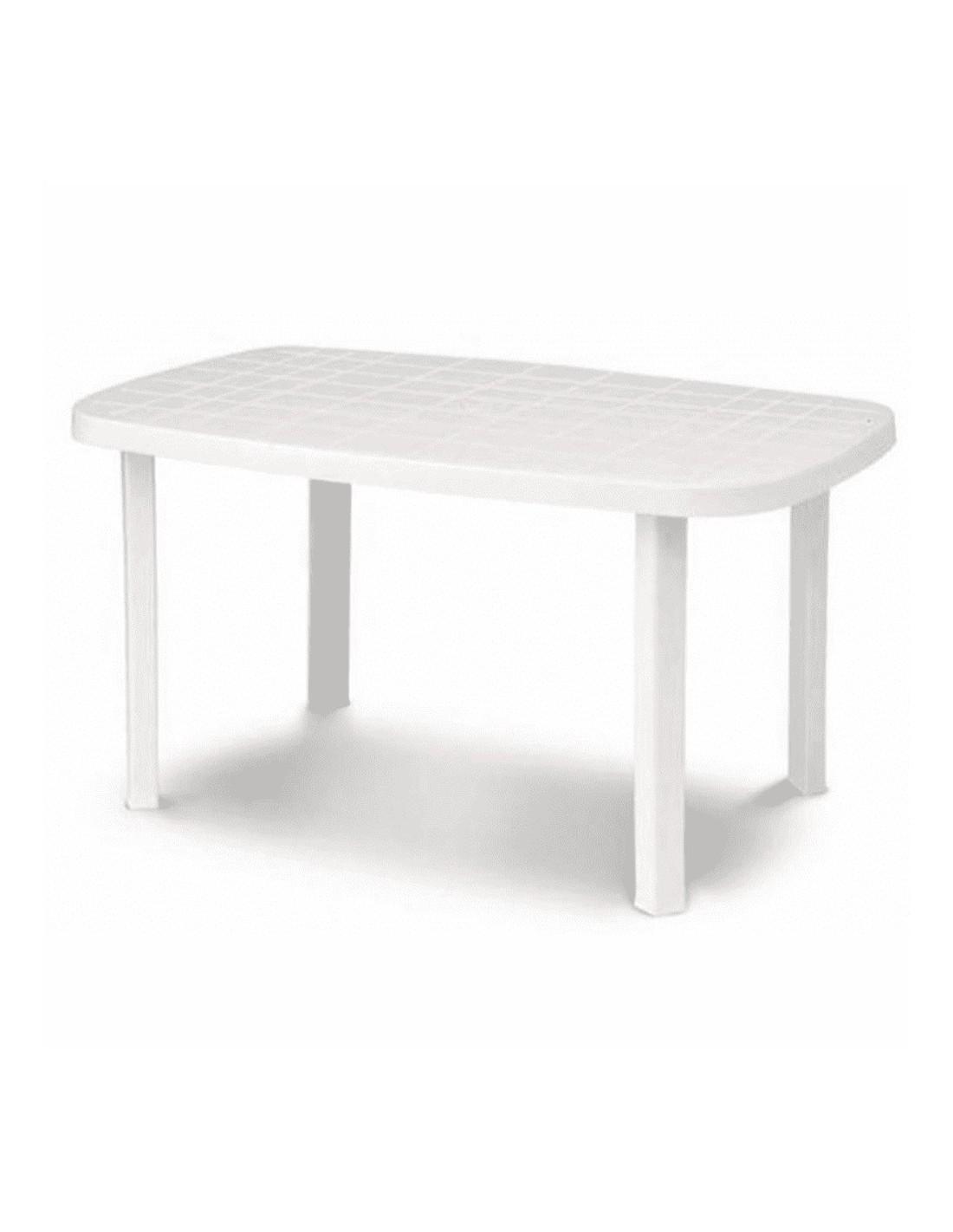 Tavolo da giardino in resina ovale bianco Otello 136 x 82 x 72 centimetri