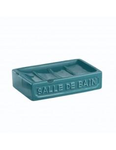 Portasapone in ceramica blu...