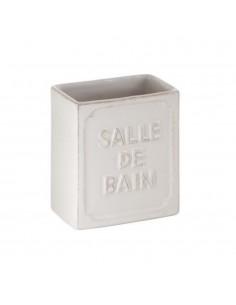 Portaspazzolino in ceramica bianco Vivienne Gedy