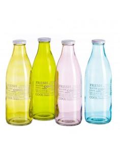 Bottiglia in vetro decorata...