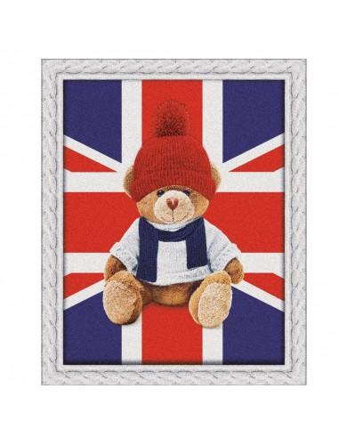 Plaid Sherpa con stampa digitale English Teddy 130 x 160 centimetri Biancheria Da Letto