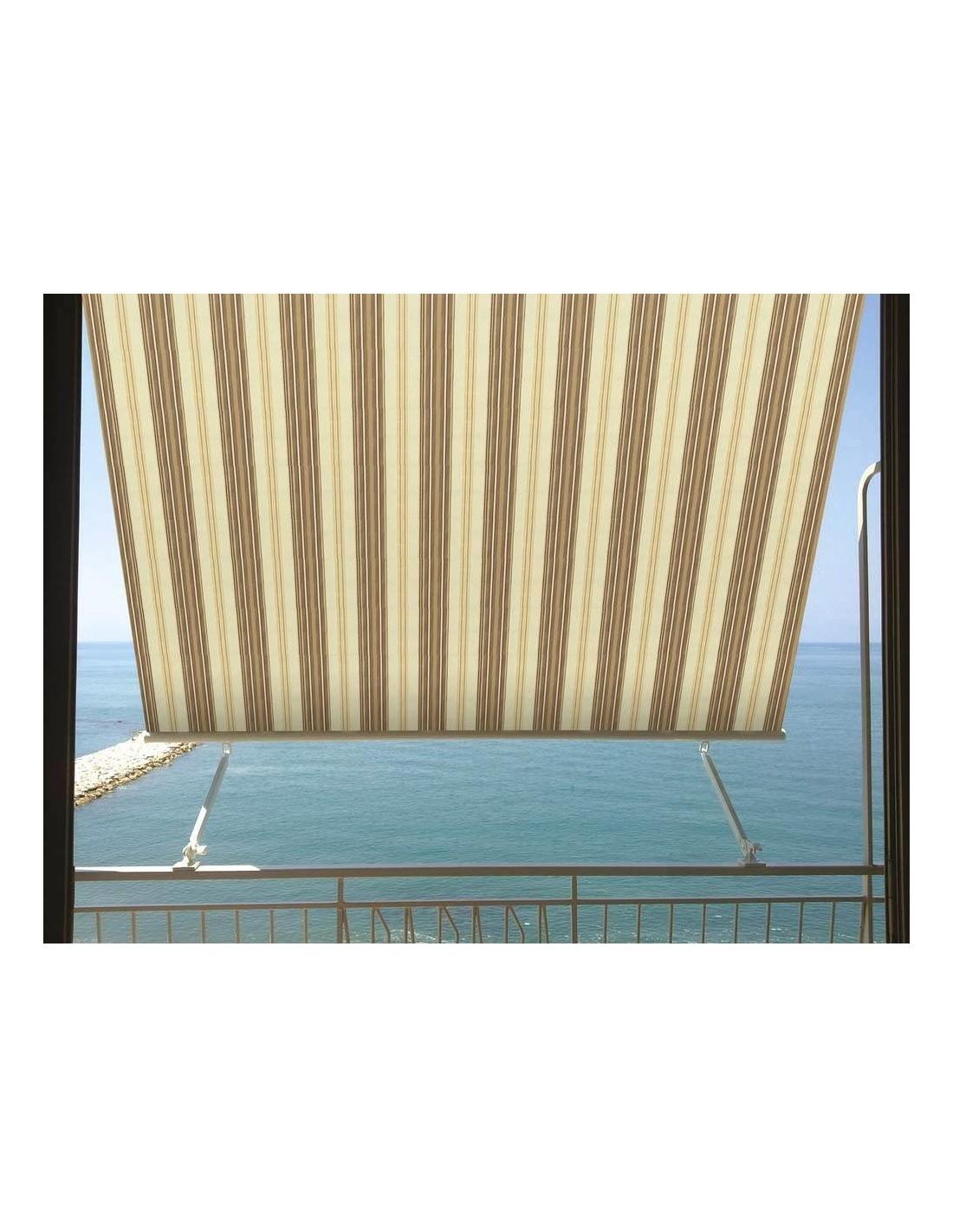 Tende Da Sole Frattamaggiore tenda da sole a caduta milos 3 x 2,45 mt beige e marrone a