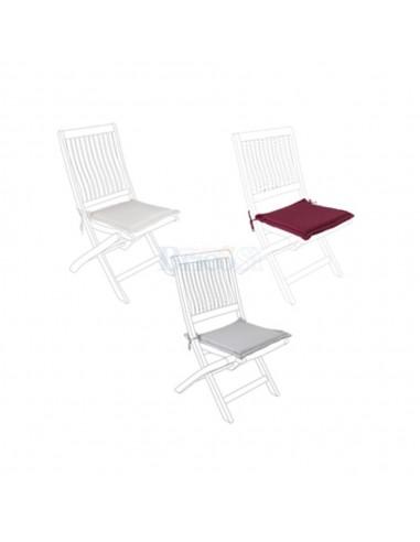 Cuscino seduta per sedia da giardino in legno sfoderabile e idrorepellente colore tortora Bizzotto Cuscini e coprisedia