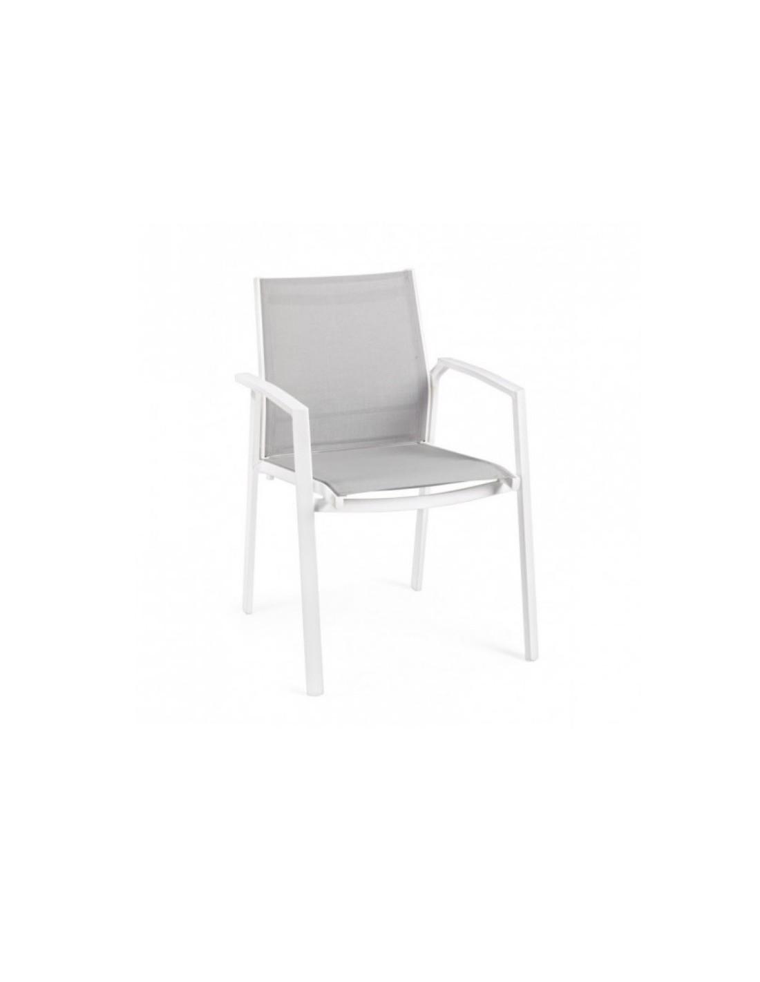 Sedie Da Esterno Con Braccioli.Sedia Da Esterno Con Braccioli Liam Colore Bianco Bizzotto A Soli