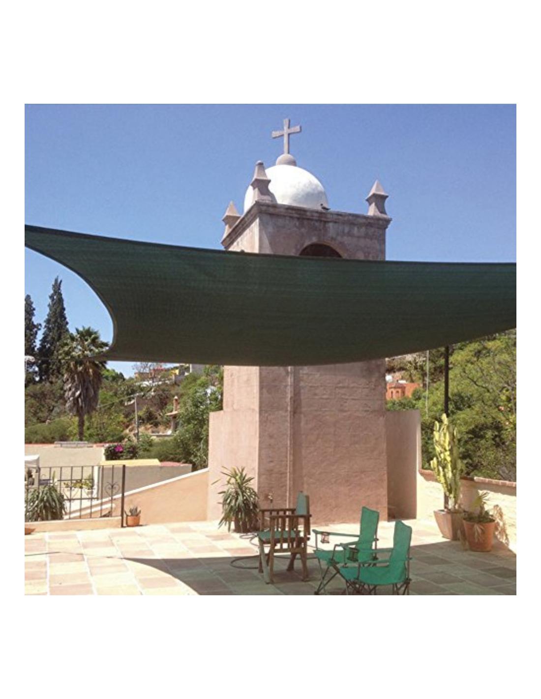 Vela Triangolare Da Giardino tenda ombreggiante a vela triangolare 3 x 3 x 3 metri colore verde  verdelook a soli 19,90 €