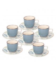 Set 6 tazze tè con piattino...