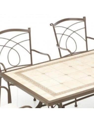 Tavolo Da Giardino Metallo.Tavolo Da Giardino Rettangolare In Metallo 202x102 Cm Kingston A