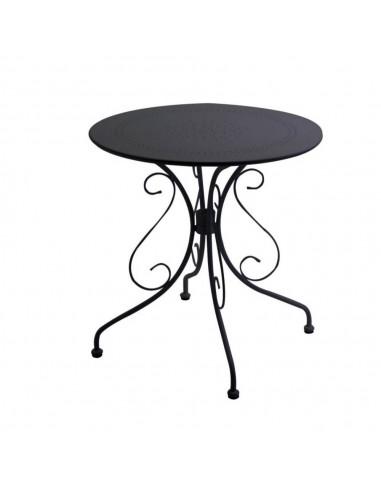 Tavolo tondo in metallo da giardino Old antracite diametro 70 cm. Tavoli