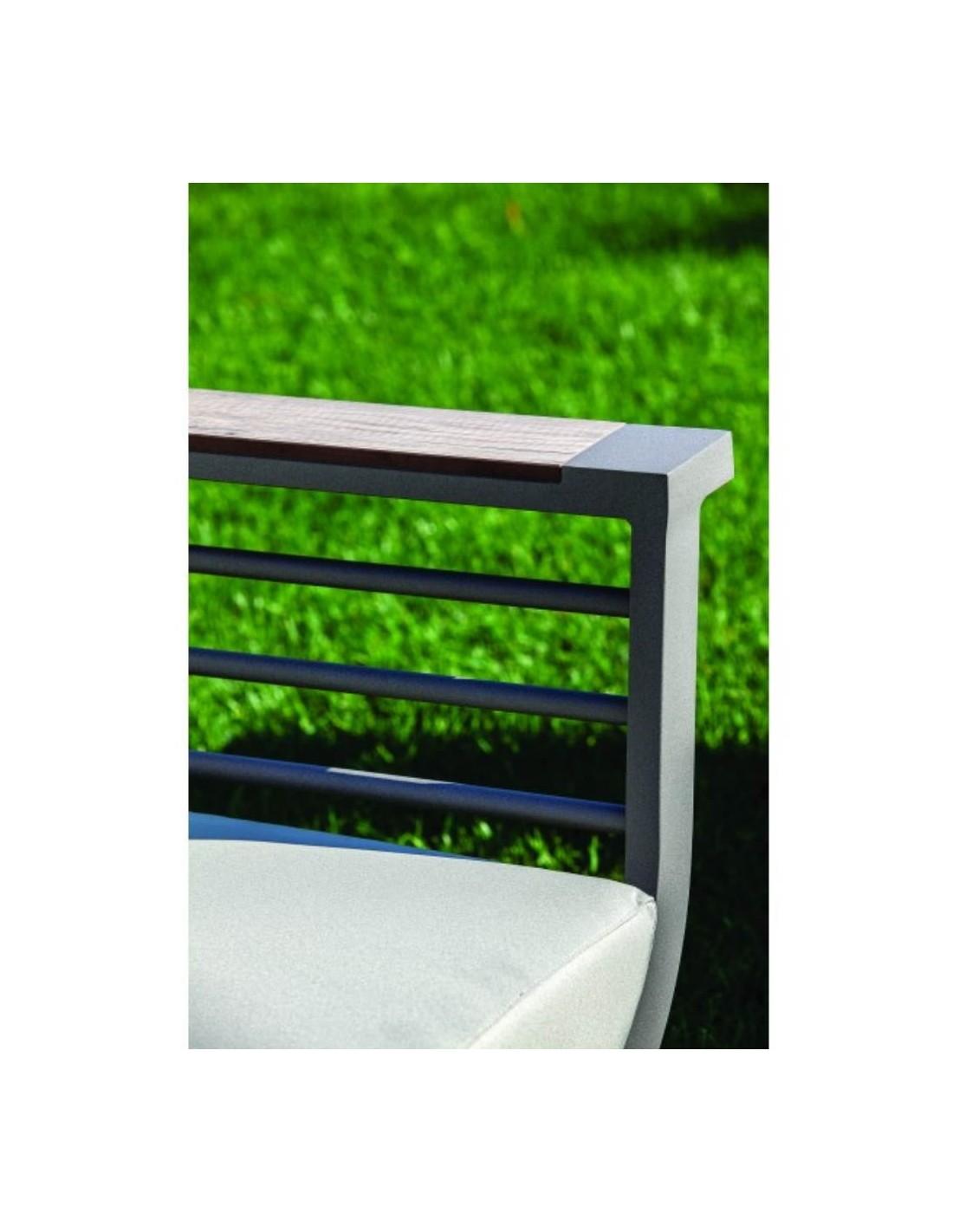 Cuscini Idrorepellenti Per Esterno salotto da giardino divano 2 poltrone e tavolino riverside