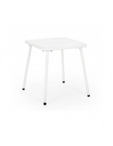 Tavolino basso bianco da giardino 40x40x40 H cm. Marlyn Bizzotto Tavoli