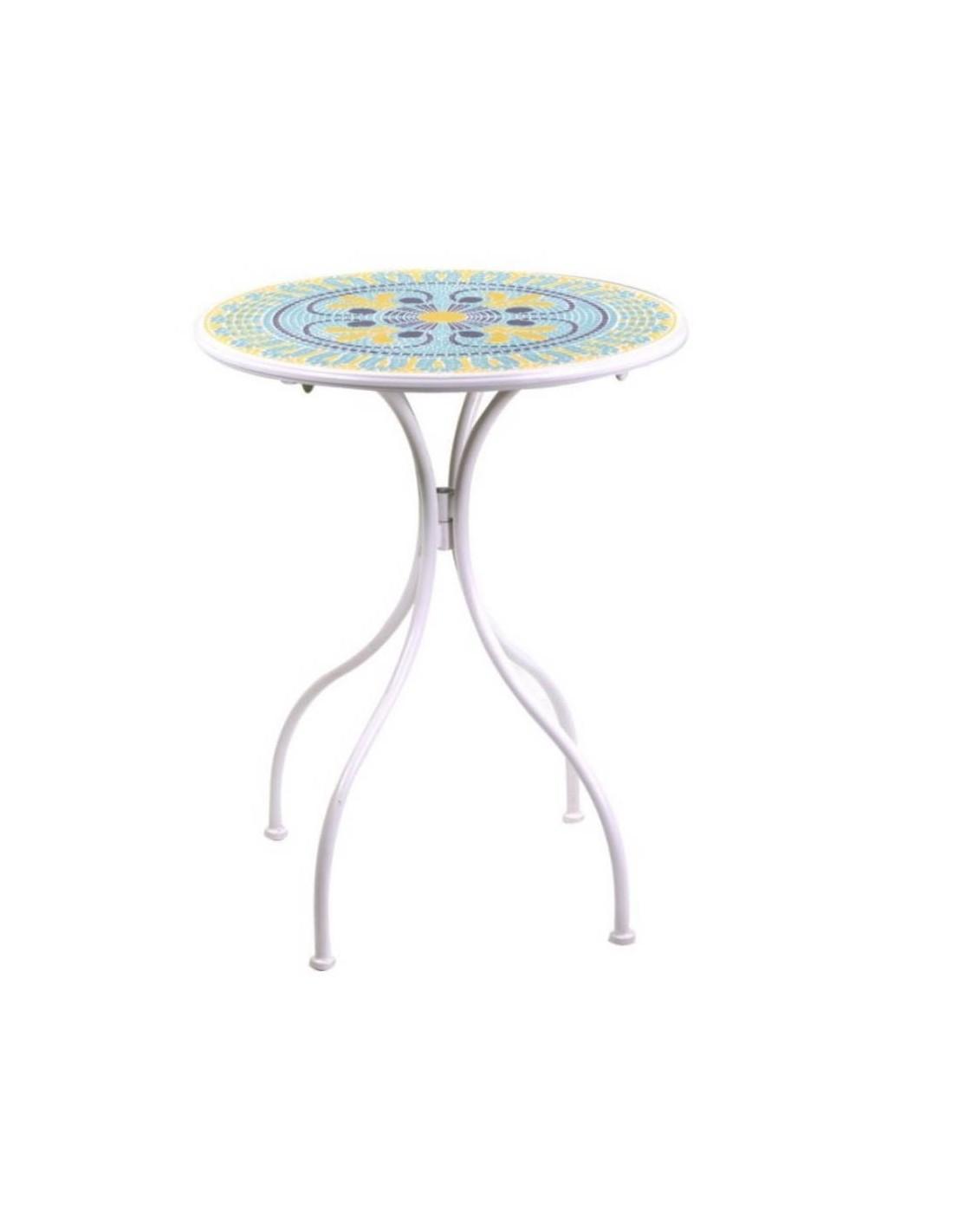 Mobili Da Giardino Brindisi.Tavolo Tondo In Metallo Con Mosaico E Due Sedie Brindisi A Soli 139 00