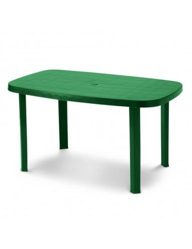 Tavolo da giardino in resina ovale verde Otello 140x80x72 centimetri Tavoli