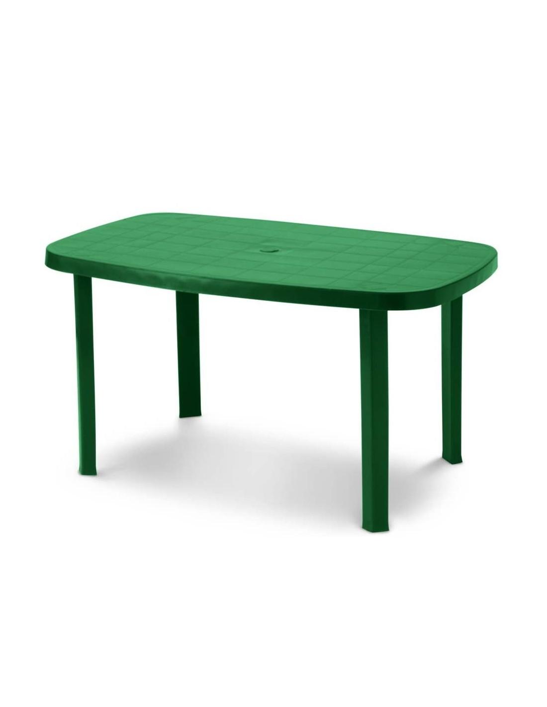 Tavolo da giardino in resina ovale verde Otello 140x80x72 ...