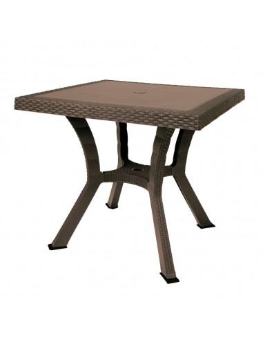 Tavolo quadrato Figaro Elite rattan brown 80x80x72 cm. Tavoli