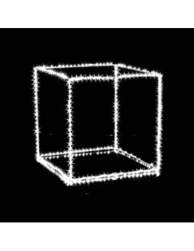 Cubo con microled bianco  cm 35 x 35  320 microled  Illuminazione Natalizia