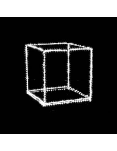 Cubo con microled bianco  cm 25 x 25  230 microled  Illuminazione Natalizia