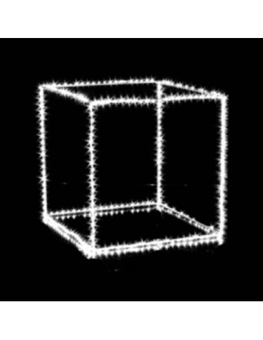 Cubo con microled bianco  cm 55 x 55  510 microled  Illuminazione Natalizia