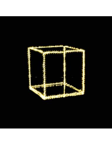 Cubo con microled classic  cm 35 x 35  320 microled  Illuminazione Natalizia
