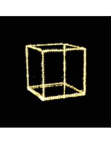 Cubo luminoso con microled classic  cm 45 x 45  Illuminazione Natalizia