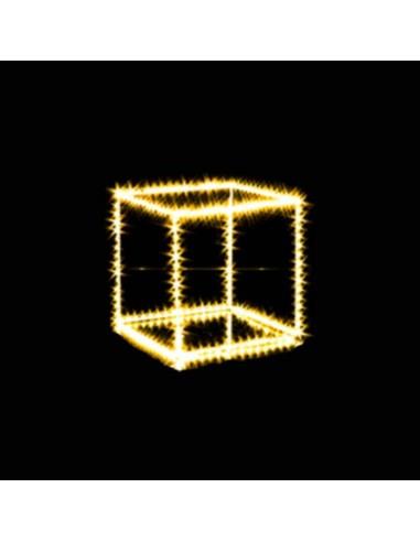 Cubo con microled classic  cm 30 x 30  270 microled  Illuminazione Natalizia