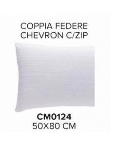 Coppia federe con zip 50 x 80