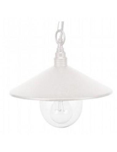 Lampada sospensione in alluminio per esterno bianco Lampade a Sospensione