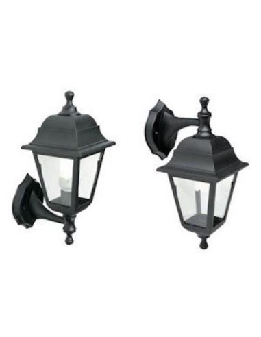 Lampada Applique Lanterna Componibile Piccola Quadrata Up&Down Colore Nero Per Esterno Lampade da Parete