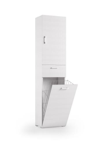 Mobile lavanderia 1 anta 1 cassetto finitura bianca Mobili Bagno